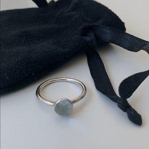 Pandora Poetic Droplet Birthstone March Ring